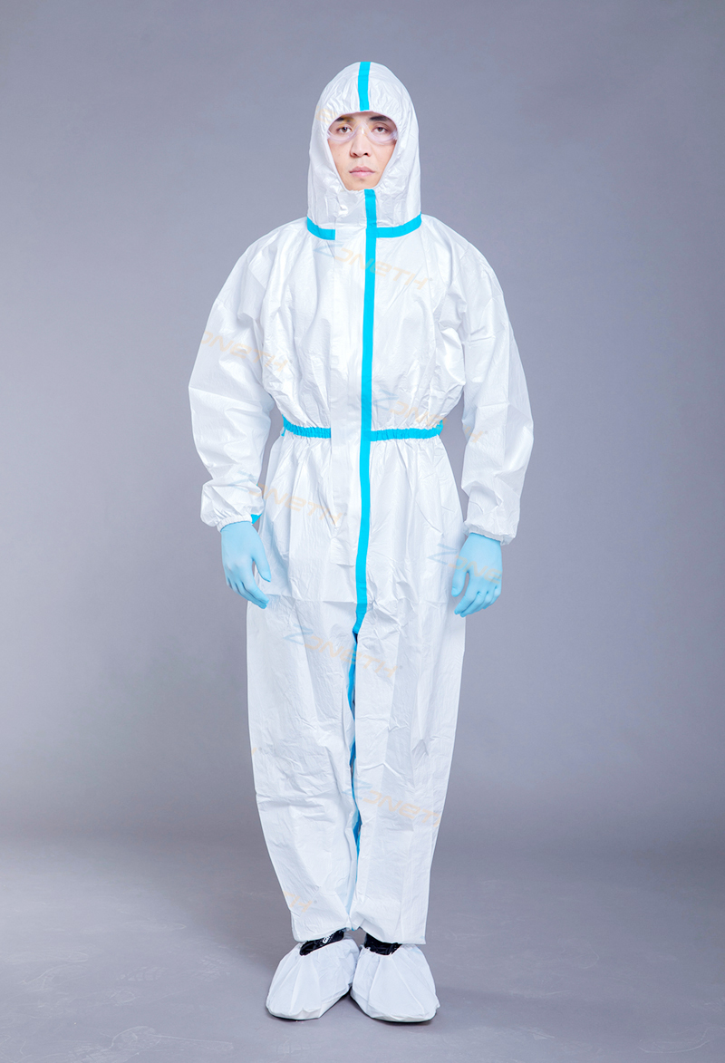 65gsm MICROPOROUS(SF) Disposable Protective Coverall with taping