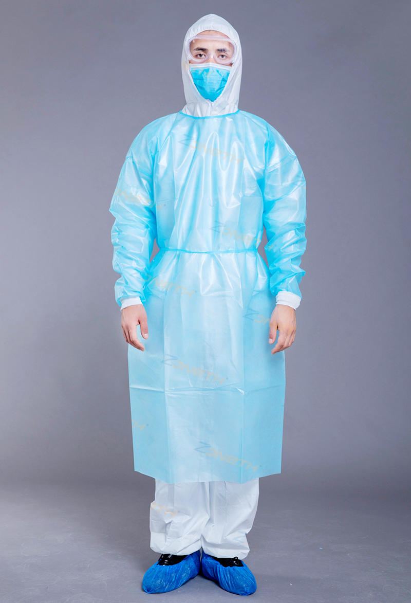 35GSM PP+PE Disposable Isolation Gown