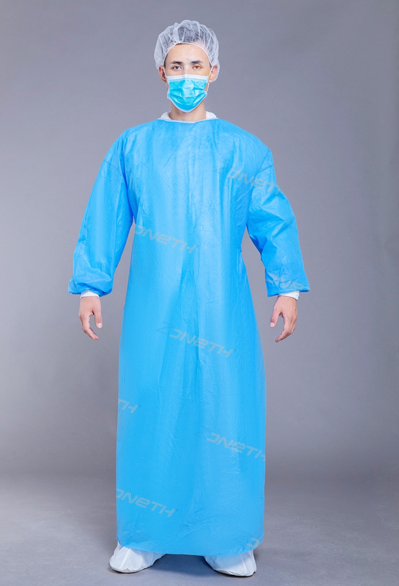 45GSM SMMS Disposable Isolation Gown