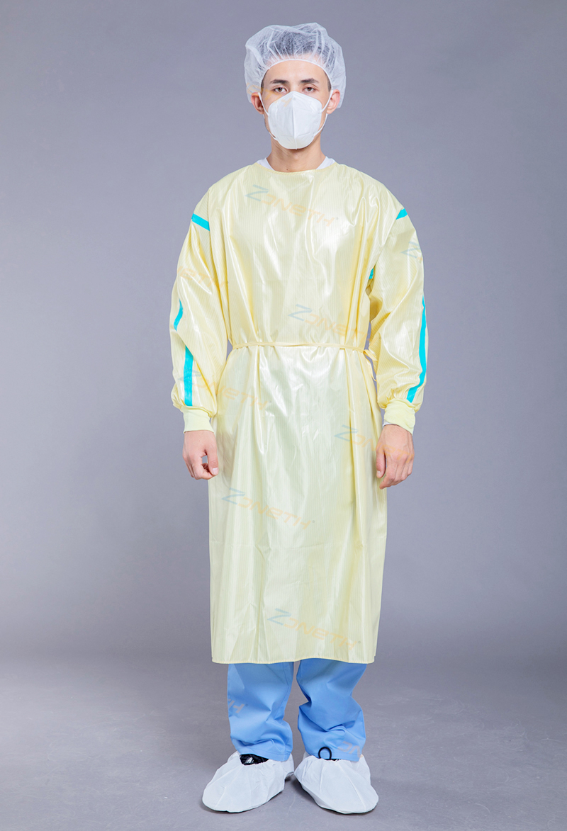 60gsm Polyester Reusable Isolation Gown