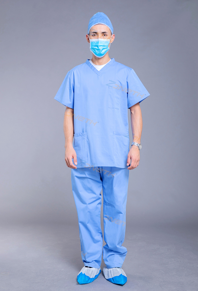 55gsm POLYESTER Reusable Scrub Suit