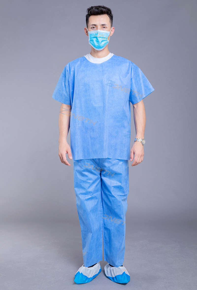 35gsm SMS Disposable Scrub Suit
