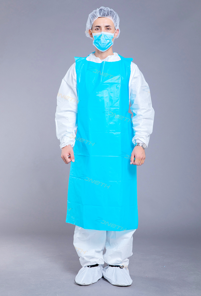 35g CPE/PE Disposable Plastic Gown