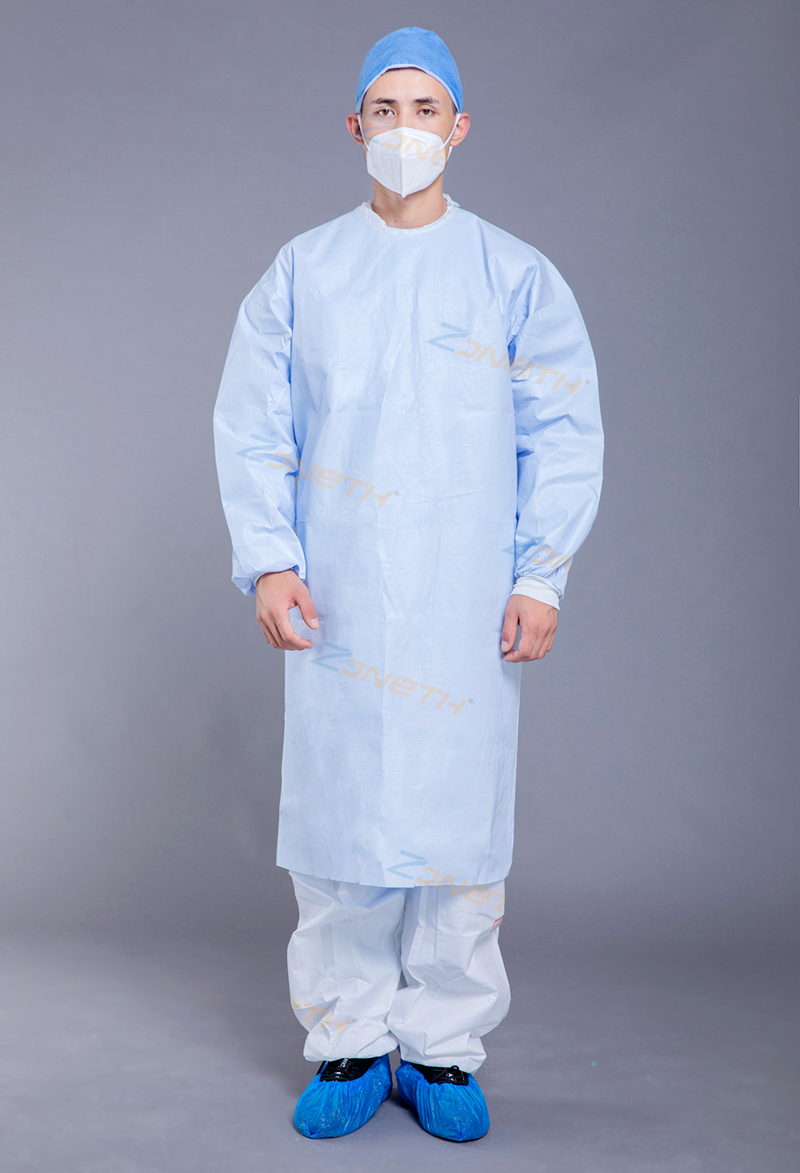 100gsm SMMS Medical Sugical Gown The whole body coated